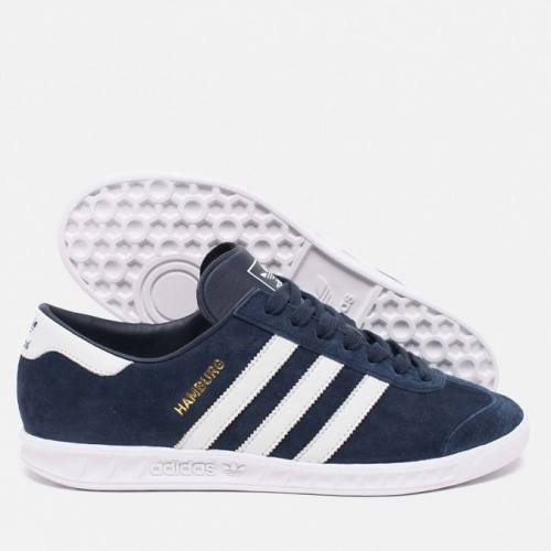 Кроссовки Adidas Originals Hamburg AH3 Синие (V122)