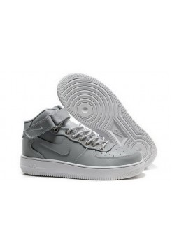 Кроссовки Nike Air-Force High Silver (VАМ311)
