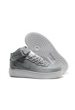 Кроссовки Nike Air-Force High Silver (VАМ311)