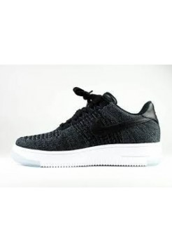 Кроссовки Nike Air Force Low Черно/синие (Е513)