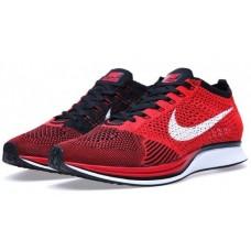 Кроссовки Nike Flyknit Racer Red Black (V-621)