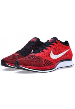 Кроссовки Nike Flyknit Racer Red Black (V-621)