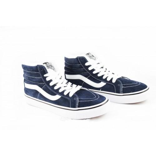 Кеды Vans Sk8 Hi Winter Boots Синие замша (V87)