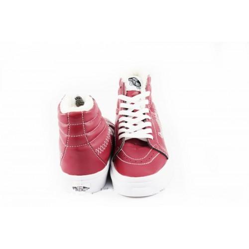 Кеды Vans Sk8 Hi Winter Boots Красные рисунок (V97)