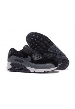 Кроссовки Nike Air Max 90 suede black/grey (А-211)