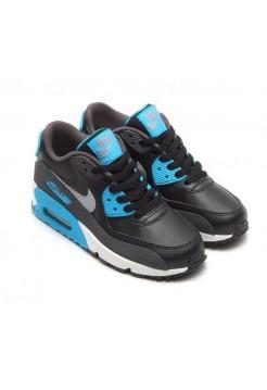 Кроссовки Nike Air Max 90 Черно-синие (А215)
