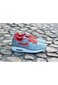 Кроссовки Nike Air Max 87 Серо-красные (А612)