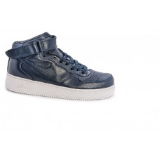 Кроссовки Nike Air-Force High navy/white (А-311)