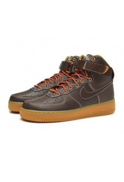 Кроссовки Nike Air-Force High light brown (А-313)
