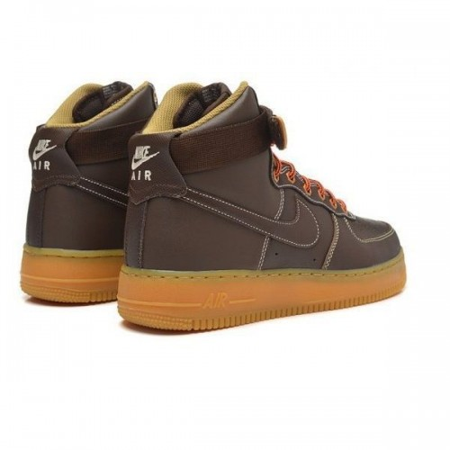 Кроссовки Nike Air-Force High light brown (А-313)