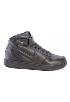 Кроссовки Nike Air-Force High С мехом black (А218)