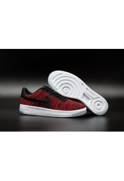 Кроссовки Nike Air Force Ultra Flyknit Low red/black/white (А281)