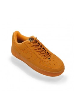 Кроссовки Nike Air Force Low suede brown/yellow (АМ284)