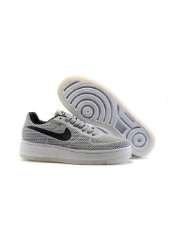 Кроссовки Nike Air Force Low grey/black (А286)