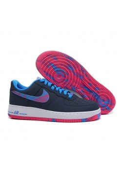 Кроссовки Nike Air Force Low dark blue/blue/purple (А211)