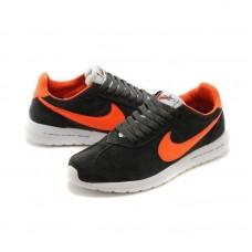 Кроссовки Nike Roshe Run grey/orange (АО172)