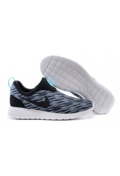 Кроссовки Nike Roshe Run Slip On GPX Black on White (АVО173)