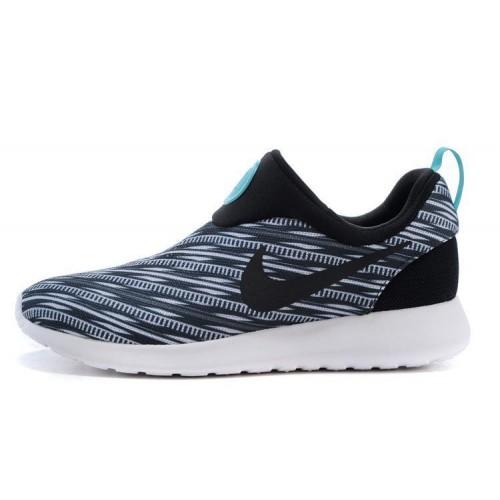 Кроссовки Nike Roshe Run Slip On GPX Black on White (АVО173)
