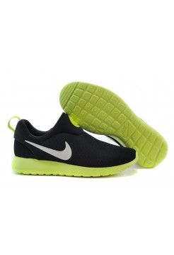 Кроссовки Nike Roshe Run Slip On GPX Black Green (АVО171)