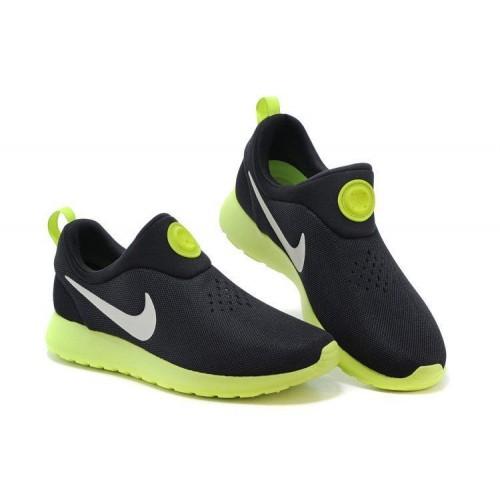 Кроссовки Nike Roshe Run Slip On GPX Black Green (АVО171)