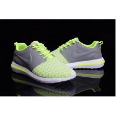Кроссовки Nike Roshe Run Серо/зеленые (АО174)