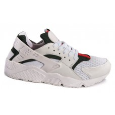 Кроссовки Nike Air Huarache white/green/red (А713)