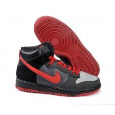 Кроссовки Nike Dunk High Черно/серые (А211)