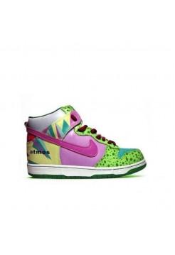 Кроссовки Nike Dunk High Green/Red (А213)