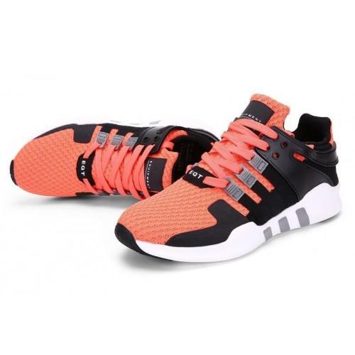 Кроссовки Adidas Originals EQT black/orange/white (А525)