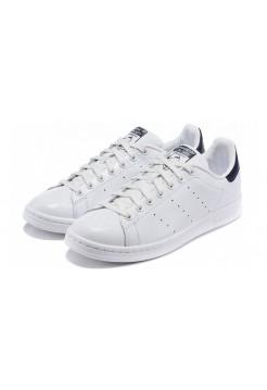 Кроссовки Adidas Stan Smith white/dark blue (АМ115)