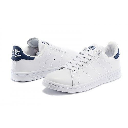 Кроссовки Adidas Stan Smith white/dark blue (АМ115)