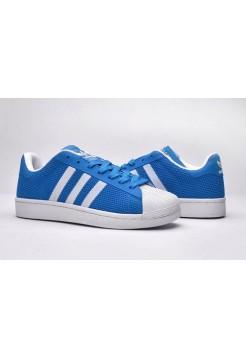 Кроссовки Adidas Superstar Stan Smith light blue/white (А114)
