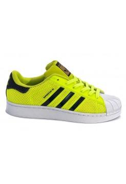 Кроссовки Adidas Superstar Stan Smith green/black/white (А117)