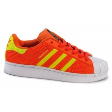 Кроссовки Adidas Superstar Stan Smith orange/green/white (А119)