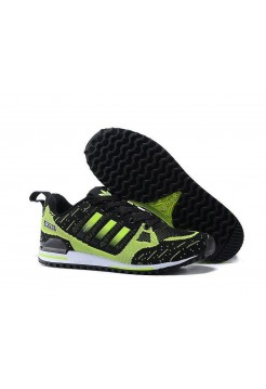 Кроссовки Adidas Оriginals ZX750 Flyknit black/green (А242)