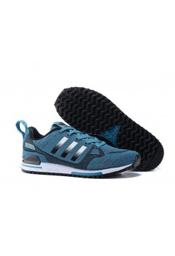 Кроссовки Adidas Оriginals ZX750 Flyknit blue/black (А243)