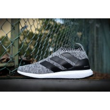 Кроссовки Adidas Ultra Boost Mid light grey/black/white (АW411)