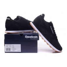 Кроссовки Reebok Classic Suede black/white (А514)
