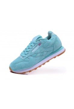 Кроссовки Reebok Classic Suede light mint/white (А516)