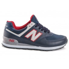 Кроссовки New Balance 574 dark blue/red (А812)