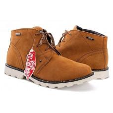 Ботинки Vans с мехом Коричневые (А111)