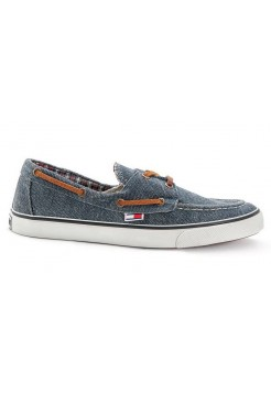 Мокасины Tommy Hilfiger canvas blue (А711)