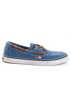 Мокасины Tommy Hilfiger canvas light blue (А713)