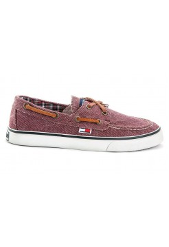 Мокасины Tommy Hilfiger canvas red (А714)