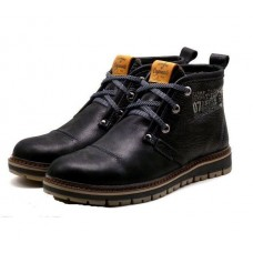 Ботинки Clarks Urban Tribe black с мехом (А511)