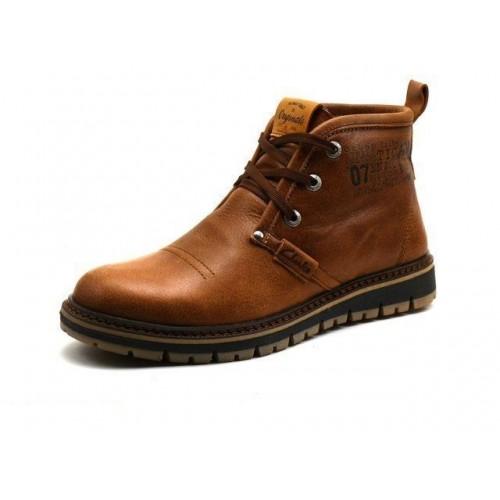 Ботинки Clarks Urban Tribe brown с мехом (А512)