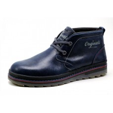 Ботинки Clarks Urban Tribe navy с мехом (А513)