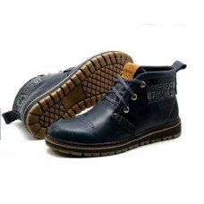 Ботинки Clarks Urban Tribe dark navy с мехом (А514)