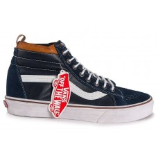 Кеды Vans Sk8 Hi Winter dark blue/white/brown (WА368)