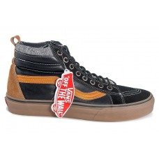Кеды Vans Sk8 Hi Winter black/brown/grey (WА369)